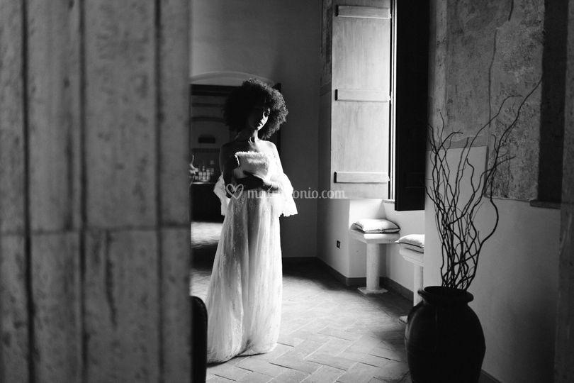 Sposa preparazione abito