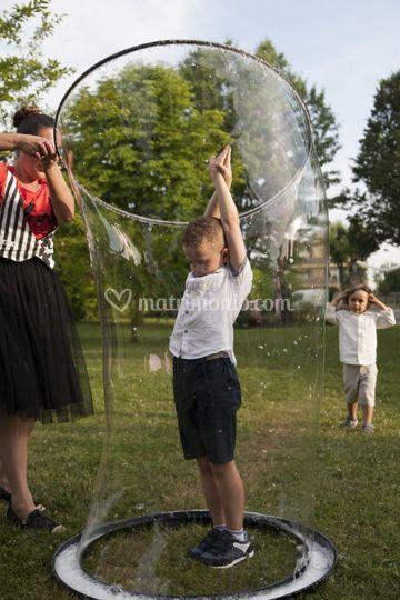 Animazione bambini bolle di sa