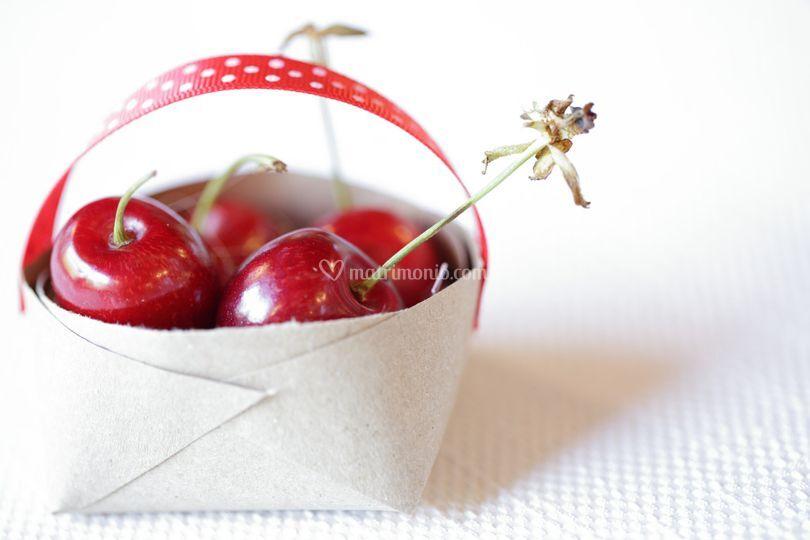 Segnaposto con ciliegie