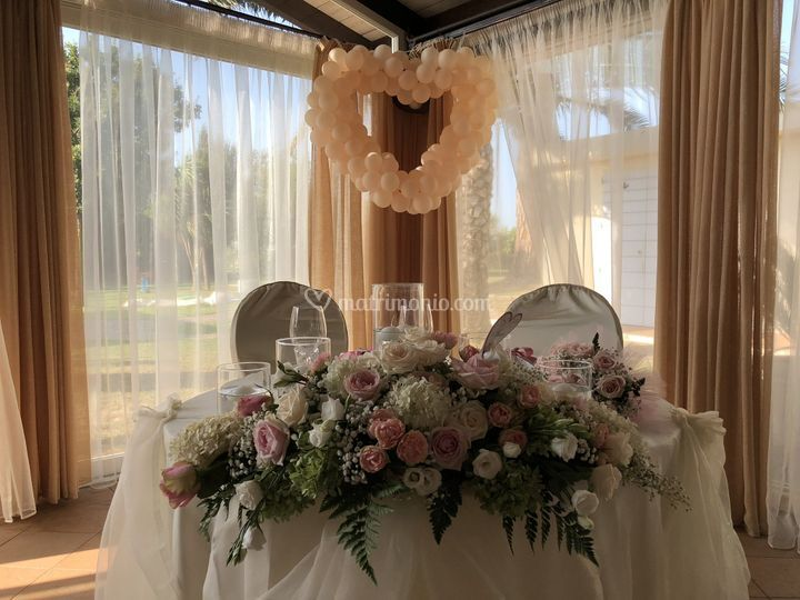 Centro tavola degli sposi