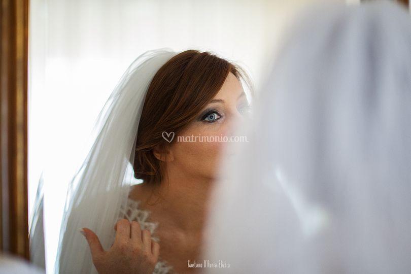 Ritratto sposa hotel Cetus