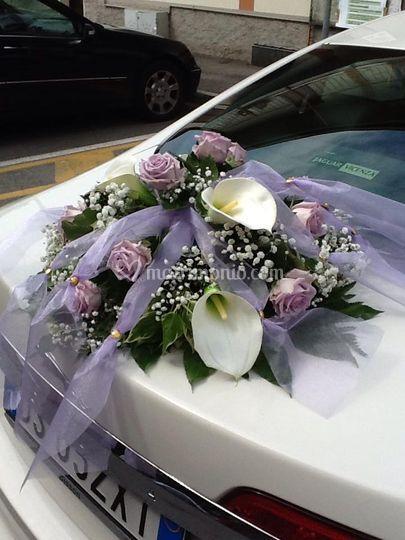 Bouquet retro macchina