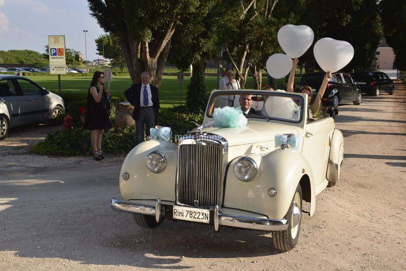 Alvis Ta 21 cabrio bianco