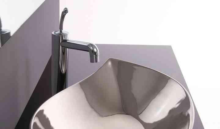 Lavabo Piroga platino lucido