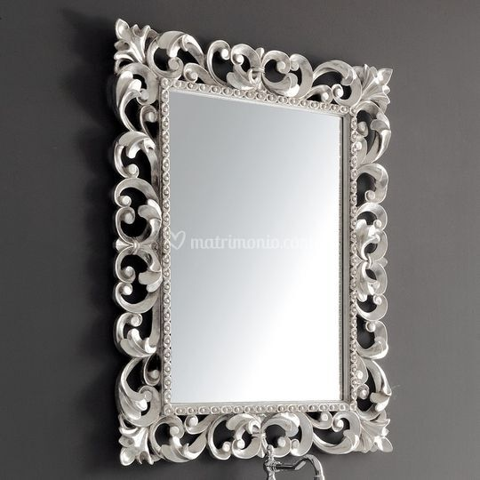 Specchio argento cornice Barocca di Ceramiche Civita Castellana  Foto