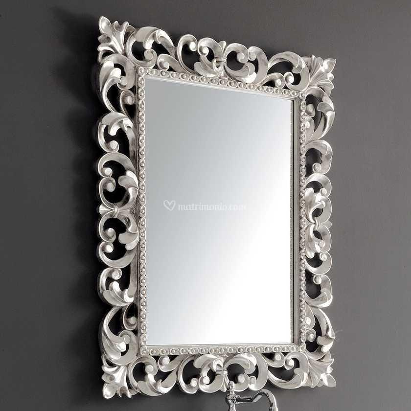 Specchio argento cornice Barocca di Ceramiche Civita ...