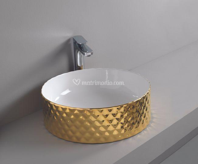 Nero Ceramica Civita Castellana.Lavabo Rombo Oro Di Ceramiche Civita Castellana Foto 42