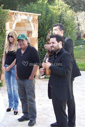 Con Albano Tenuta Carrisi