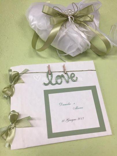 Wedding book e cuscino fedi