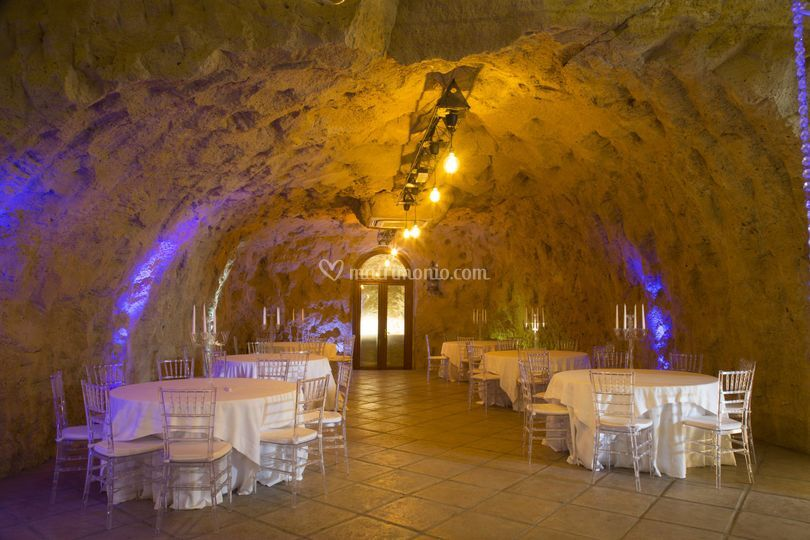 Grottone in allestimento