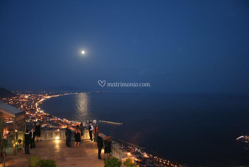 Terrazzo Belvedere panorama di notte