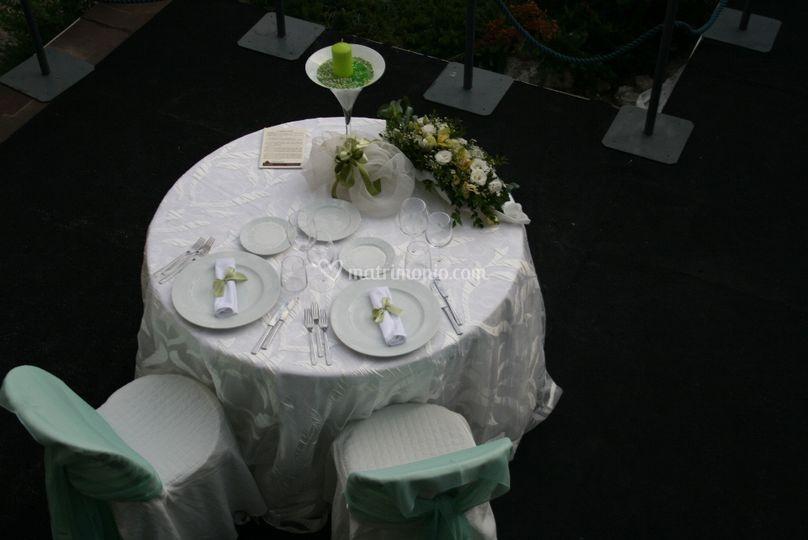 Tavolo Sposi Mise en place