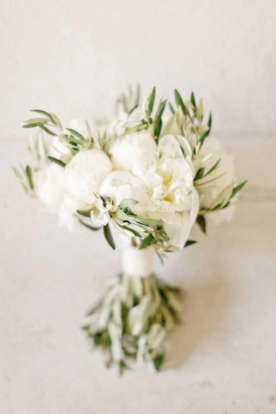 Bouquet Sposa Ulivo.Ulivo E Peonie Di Fiori E Giardini Foto 21