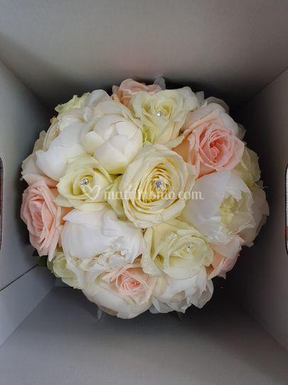 Bouquet rose e peonie