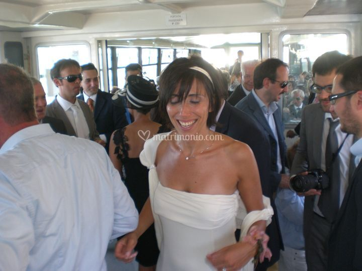 Sposi in Vaporetto a Venezia