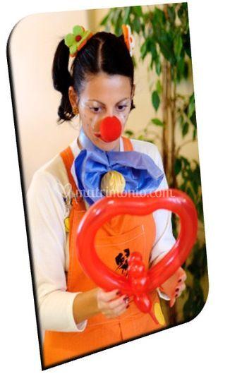 Popika clown all'opera