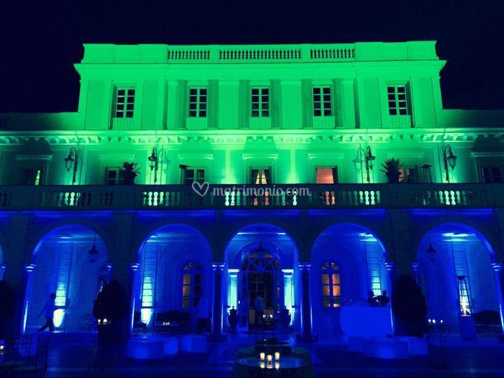 Illuminazione location di dj eventi roma foto