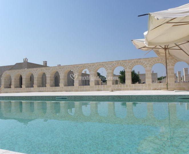 Panoramica piscina di masseria agrituristica lama san - Piscina san giorgio jonico ...