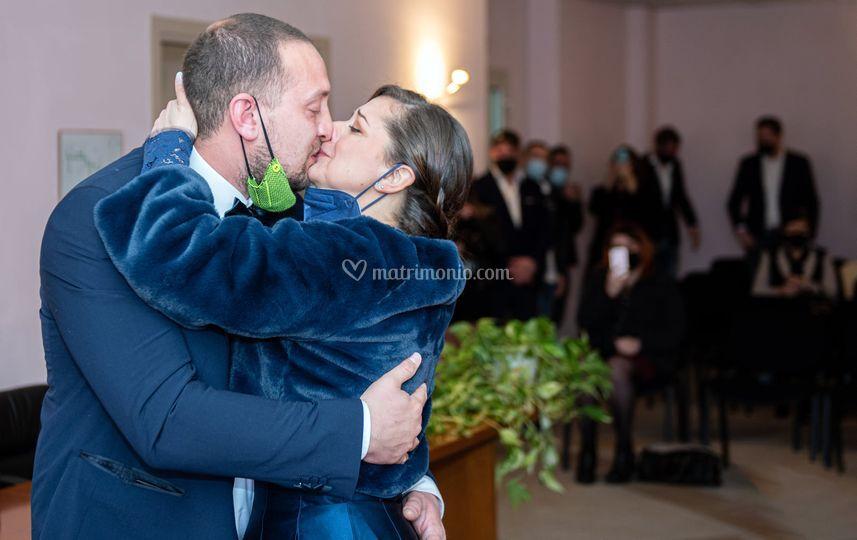 L'emozione del primo bacio.