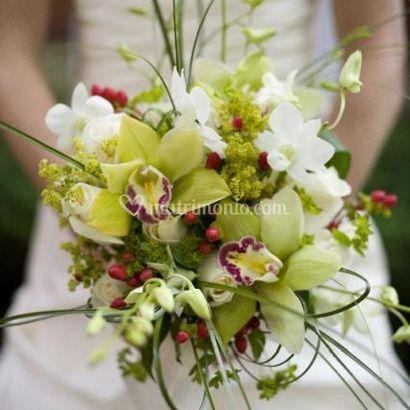 Bouquet con orchidee di Il Tulipano