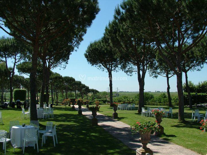 Panorama del giardino