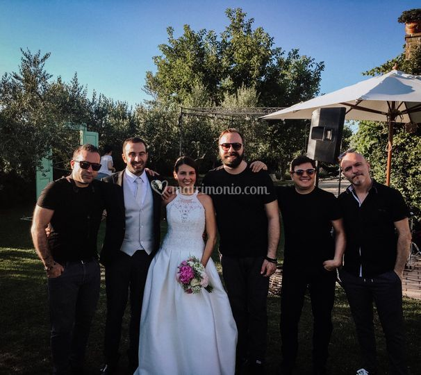 Con gli sposi Chiara e Giovann
