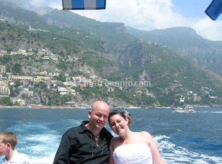 Gli sposi e la spiaggia
