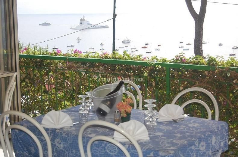 Terrazza ristorante con vista