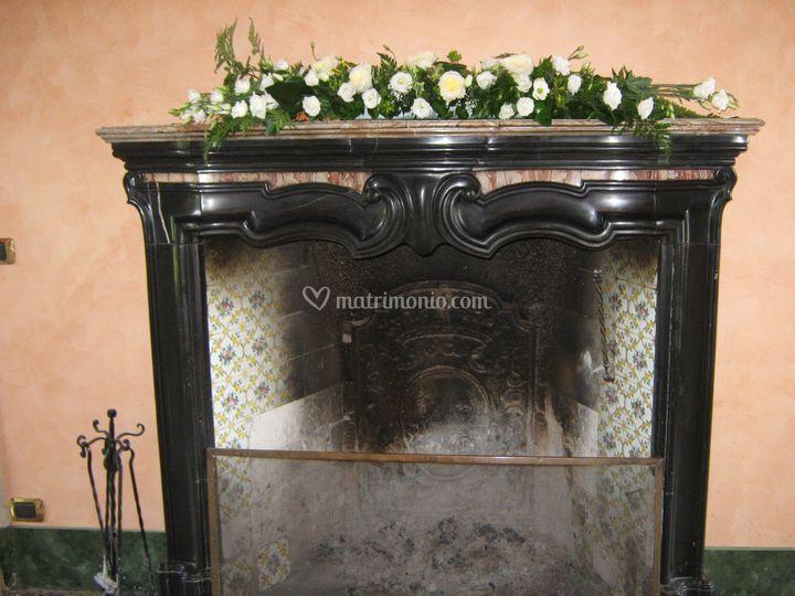 I fiori di zoe weddings for Decorazione camino