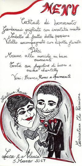 Matrimonio Natalizio Sorrento : Caricature che passione
