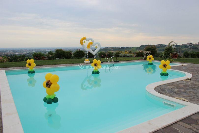 decorazioni in piscina di il mondo della festa foto 1