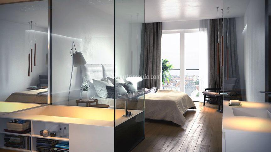 Camera da letto con doccia in di Meka arredamenti - Mobili e ...