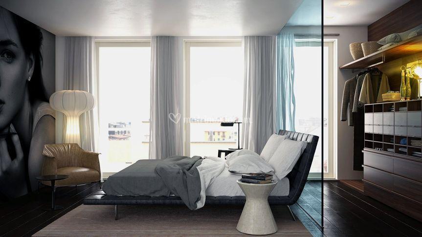 Camera da letto con cabina a v di Meka arredamenti - Mobili e ...