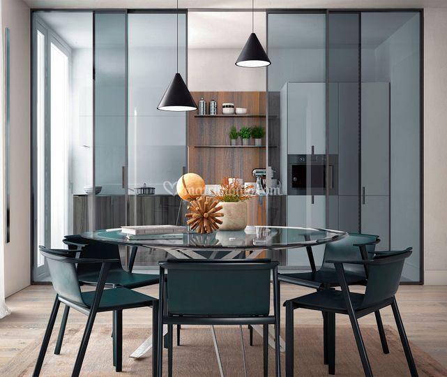 Meka arredamenti mobili e complementi di arredo - Tavolo tondo in vetro ...