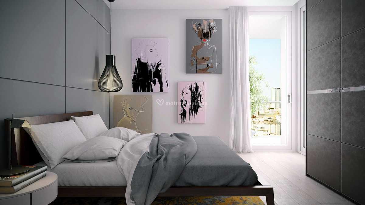 Camera da letto grigio di Meka arredamenti - Mobili e ...