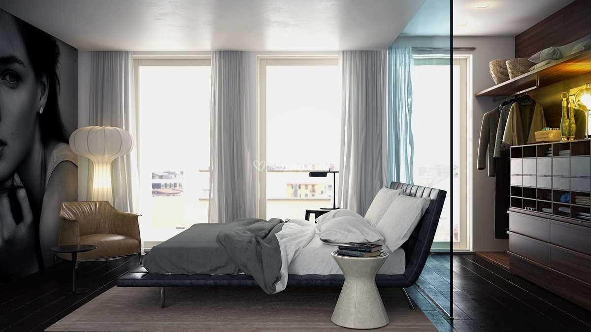 Camera da letto con cabina a v di Meka arredamenti - Mobili ...