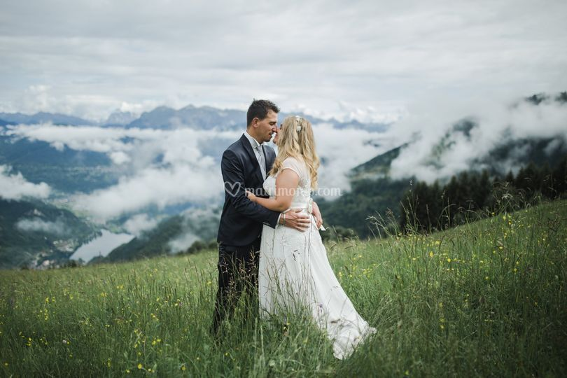 Sposi tra le nubi