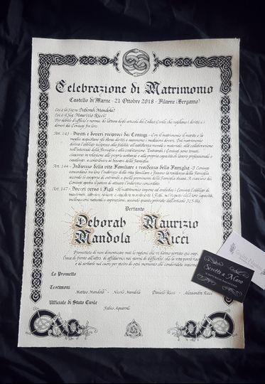 Certificato matrimoniale