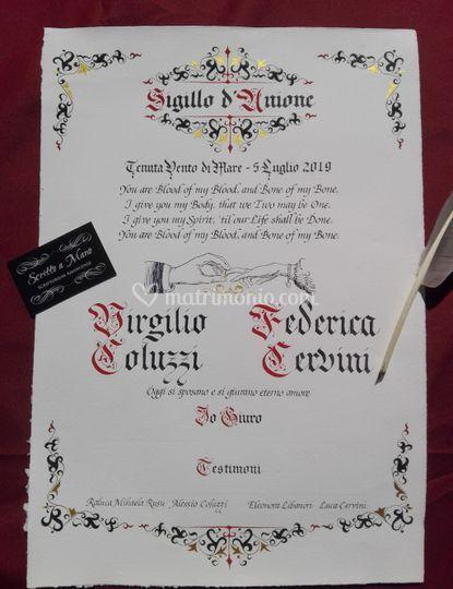 Carta nuptialis celbrativa