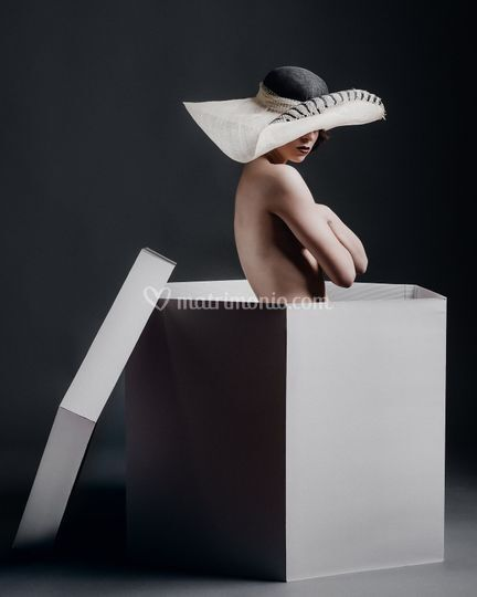 Cappello bicolore  falda larga