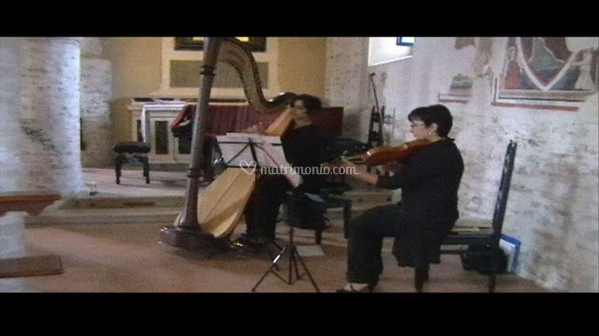 Duo arpa violino