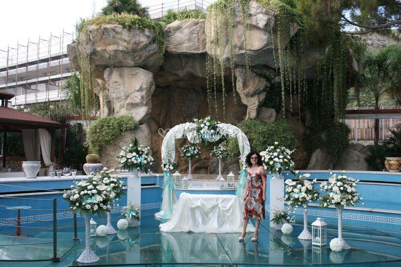 Wedding in piscina