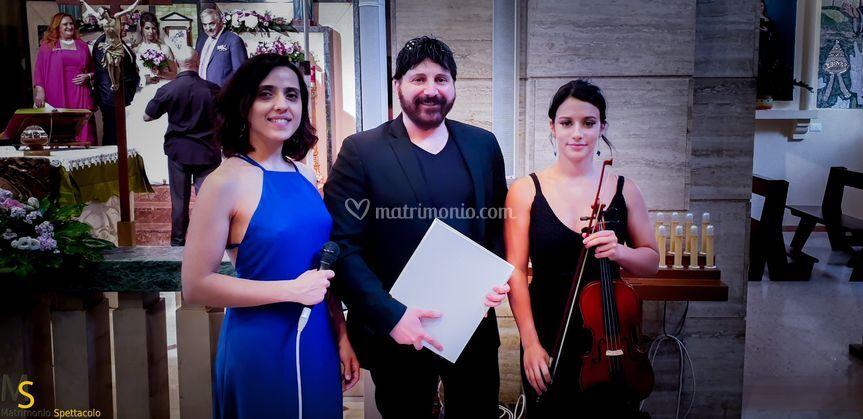 In trio con la violinista