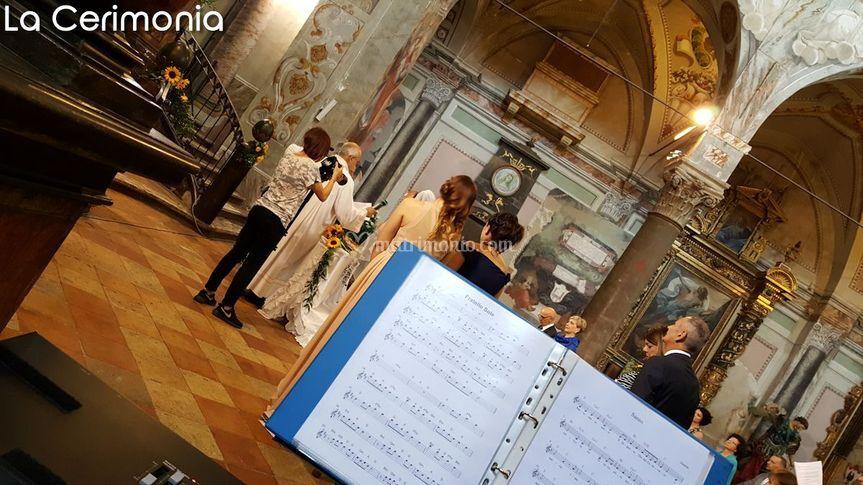 La cerimonia in Chiesa