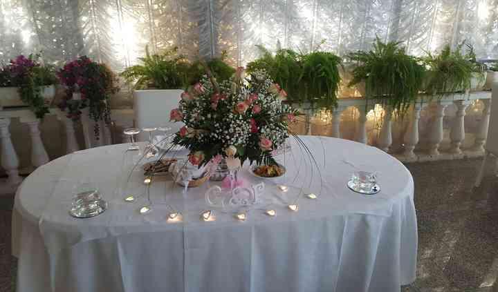 Addobbo tavolo sposi