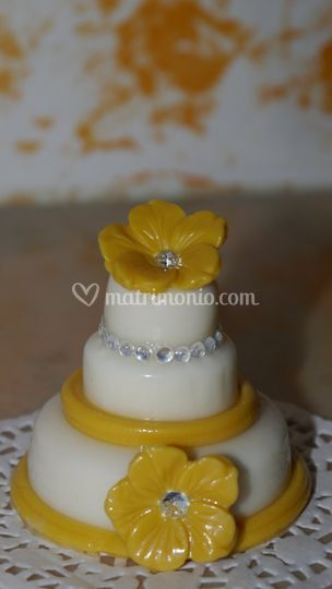 Mini wedding cake con strass