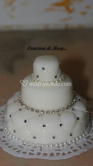 Mini cake con perline e strass