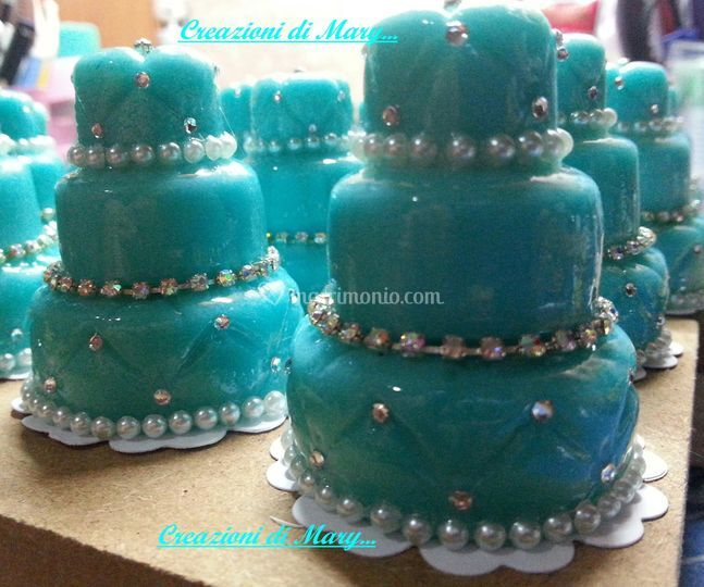 Mini cake diamante acquamarina