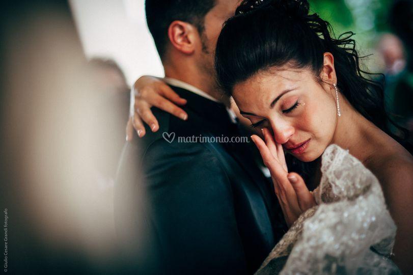 La commozione della sposa