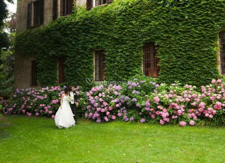 Villa benvenuti for Decorazione giardino matrimonio